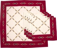 Chromatic Collections HORSE CHAIN-A Set Of 6 Napkins Red