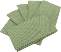 Milano Home Green, White Set Of 6 Napkins