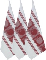 Cotonex Red, White Set Of 3 Napkins