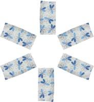 Cotonex Blue, White Set Of 6 Napkins