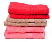 The Home Story Red, Brown, Pink Set Of 6 Napkins