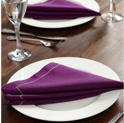 At Home Royal Legacy Set Of 2 Cloth Napkins (Purple)