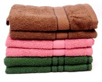 The Home Story Brown, Pink, Green Set Of 6 Napkins