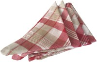 Milano Home Red, White Set Of 4 Napkins