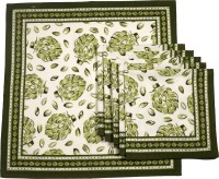 Chromatic Collections POMIGRANTE-16-A Set Of 6 Napkins Green