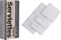 The Cotton Company Pure White Set Of 6 Napkins - NAPE8V5KF4QJKFRH