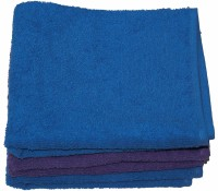 Kaashi Kicthen And Hand Towel Set Of 3 Napkins Purple, Blue