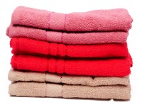 The Home Story Pink, Red, Brown Set Of 6 Napkins - NAPEBZFYTEXAXGJF