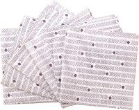 Raaga Textile Black, White Set Of 6 Napkins