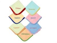 Fairchild Pink, Peach, Blue, White, Red, Blue Set Of 7 Napkins