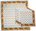 Ocean Collection Pomigrante Gold Print Set Of 6 Cloth Napkins - White, Gold