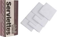 The Cotton Company Pure White Set Of 6 Napkins