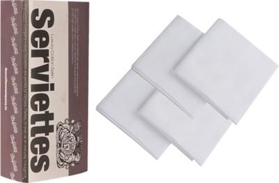 The Cotton Company Pure White Set Of 4 Napkins - NAPE8V5KAQRWCRR8