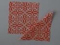 Home Func Orange N White 101 Set Of 4 Cloth Napkins - Orange, White