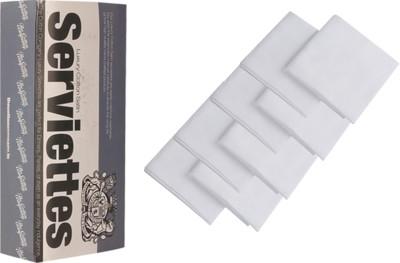 The Cotton Company Pure White Set Of 8 Napkins - NAPE8V5KR5GM8SMB