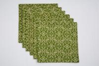 Ocean Homestore Green Set Of 6 Napkins