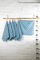 Ocean Home Store Blue Set Of 6 Napkins