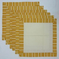 Chromatic Collections NP-Stencil-3327-Brown-A Set Of 6 Napkins Brown