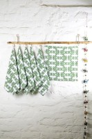 Ocean Home Store Green Set Of 6 Napkins