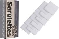 The Cotton Company Pure White Set Of 10 Napkins