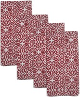Smart Home Textile Red, White Set Of 4 Napkins
