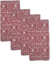 Smart Home Textile Red, White Set Of 4 Napkins