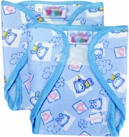 Babysid Collections Newborn Nappy Set - Velcro Type -Blue (Pack Of 2) 0m+