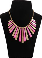 Minha Brass Plated Fabric, Metal Necklace