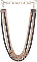 Stol'n Longline Bar Two Coloured Alloy Necklace