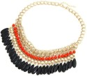 Crunchy Fashion Tassel Drop Statement Alloy Necklace