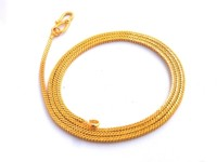 Bajya Golden Yellow Gold Plated Brass, Alloy Alloy Chain
