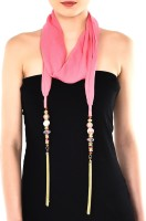 Trinketbag Pink Multi Bead Neckwear Fabric Necklace