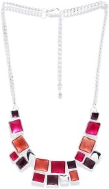 Blissdrizzle Silver-Toned Alloy Necklace
