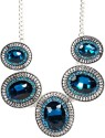 Sarah Sarah Blue Color Designer Faux Stones Necklace Metal Necklace - NKCDXV7ZE8CKZ8HA