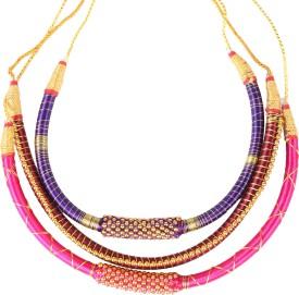 Mehra Group Enterprises Silk Dori Necklace Set
