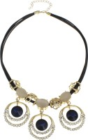 Golden Peacock Crystal Alloy Cat's Eye 18K Yellow Gold Plated Zinc Necklace