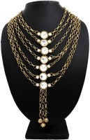Globalepartner Contemproary Pearl Alloy, Metal Necklace
