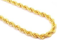 Memoir Gold Tone Rope Design Yellow Gold Plated Brass Chain