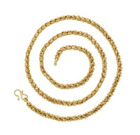 The Jewelbox 3d Temple Yellow Gold Plated Brass Chain