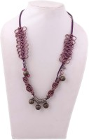 Indian Charm Multicolor Metal & Stone Beads Glass Necklace