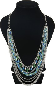Galz4ever Layred Peacock Designer Alloy Necklace