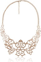 Cinderella Collection By Shining Diva Contemporary Golden Meticulous Statement Alloy Necklace