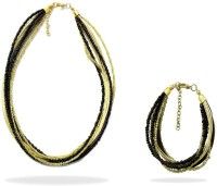 Beadworks Alloy, Glass Necklace Set