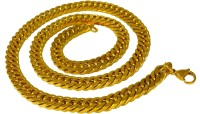 Ammvi Creations Cuban Curb Links Necklace For Men Brass, Alloy Chain