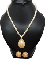 Bling N Beads Pearl Mother Of Pearl Necklace Set