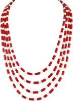 Jpearls Classic Coral & Pearls Coral, Pearl Alloy Necklace