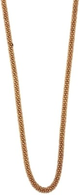 Crunchy Fashion Golden Beads Long Alloy Necklace