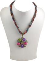 Jadoo Collections Designer Multicolor Alloy Necklace