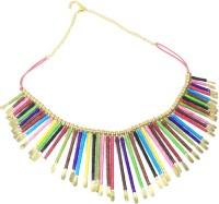 25carat Adorable Multicolour Threaded Spades Alloy Necklace