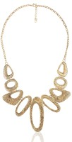 Cinderella Collection By Shining Diva Golden Style Diva Alloy Necklace